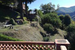Vista del giardino e panorama dalla terrazza